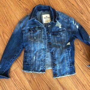 Hollister Xs Destroyed denim jacket NWT NEW